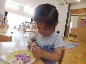 未就園児クラスおひさまぐみの子どもたち【6/8(火)】