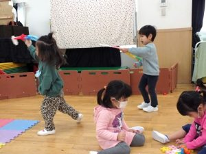未就園児クラスおひさまぐみの子どもたち【10/22(金)】
